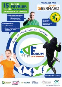 Affiche Forum Emploi Dombes 15 février 2020