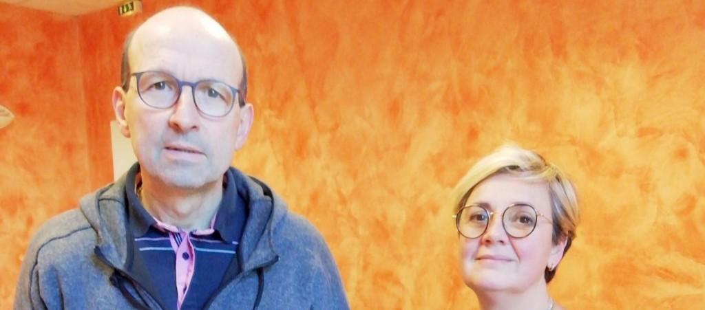 Photographie de Pierre ROSET et Pascale DIA dans la Voix de l'Ain du 31 janvier 2020