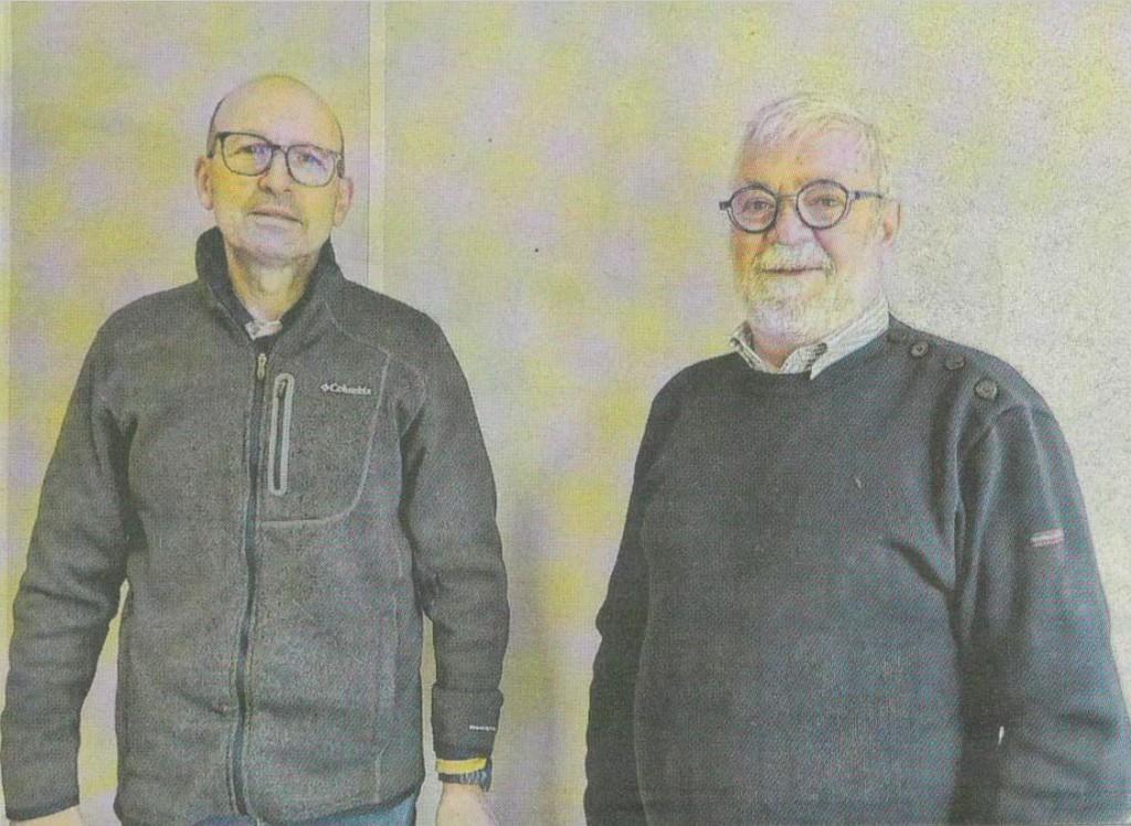 Pierre ROSET et Jacques PICOT. Photo Progrès / Amandine EYMES.